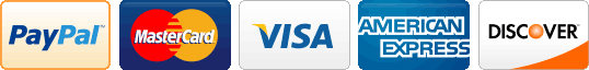 Credit Card Payments: Visa, Master Card, Paypal